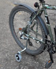 Adjustabilisers fitted to a cycle